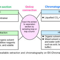 Analysis of Natural Products by Online Extraction-Chromatography System