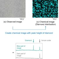 Evaluation of the component distribution and particle analysis using micro Raman spectroscopy